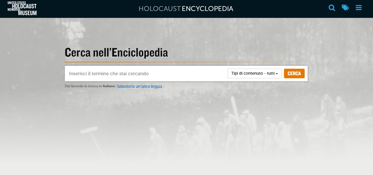 Immagine Opac Holocaust Encyclopedia